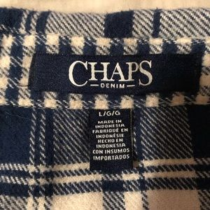 Chaps Tops - Chaps zip up flannel shirt